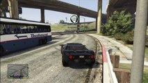 GTA 5 STUNT JUMPING: Double front side flip over a freeway!!