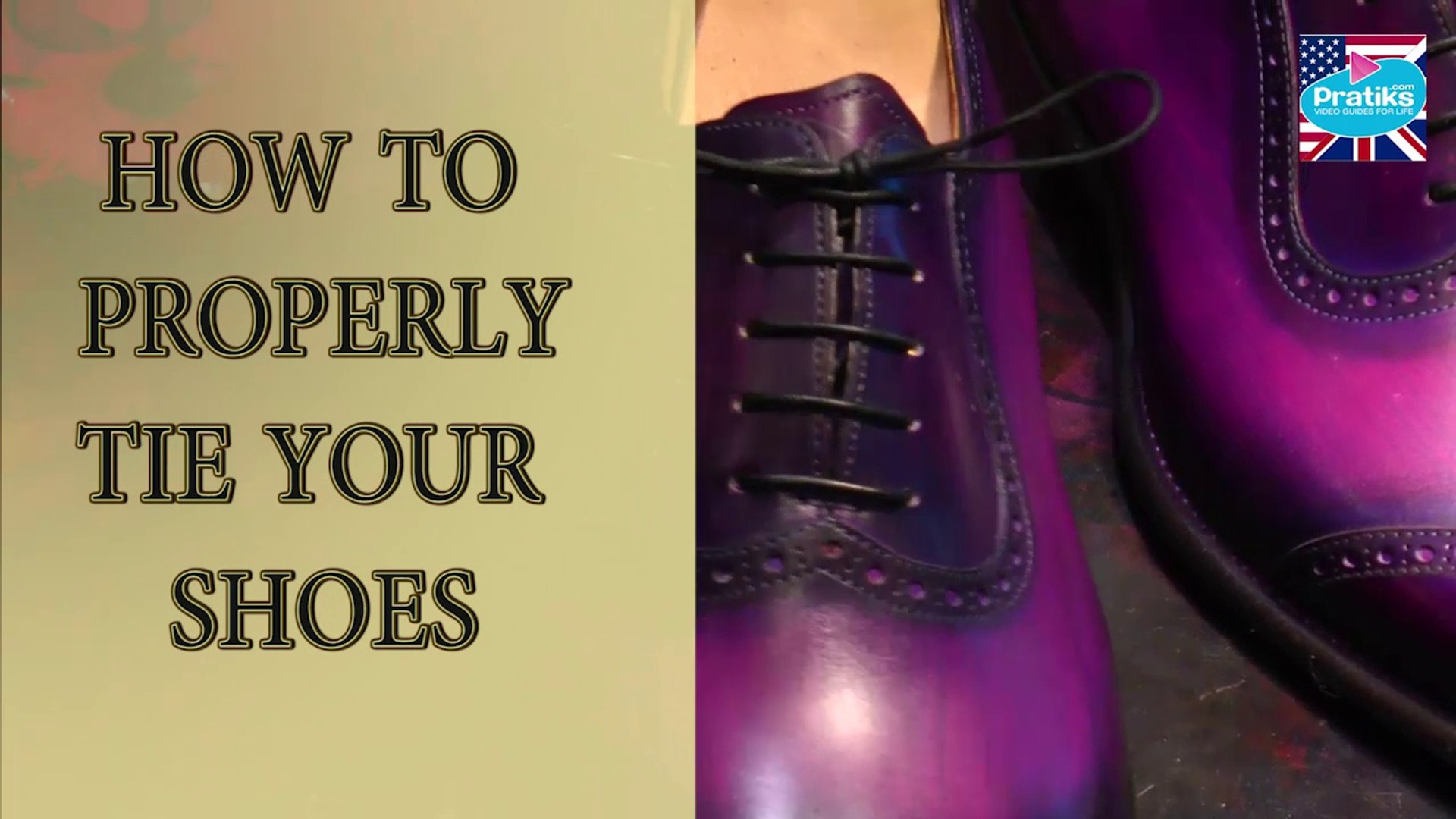 How to properly tie your shoes