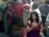 Baba making fun with dancer girl front of people - Video