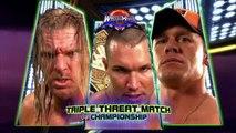 Randy Orton vs. Triple H vs. John Cena – WWE Championship Triple Threat Match: WrestleMania XXIV, March 30, 2008