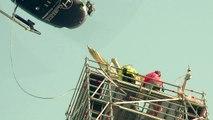 L'archange du Mont-Saint-Michel s'envole pour restauration