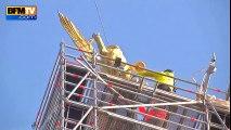 Mont-Saint-Michel : l'archange décroché avec succès pour être restauré