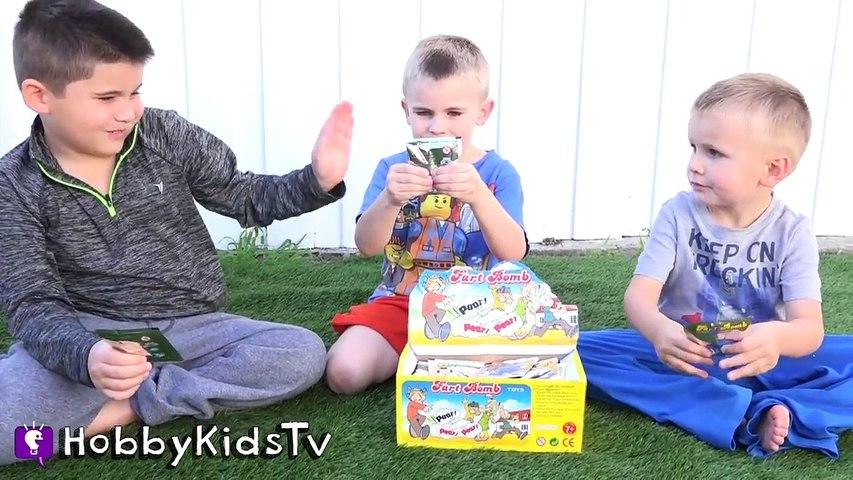 Worlds BIGGEST WHOOPEE CUSHION Surprise Egg! Fart Family Fun + Best Toys HobbyKidsTV