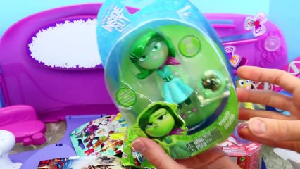 INSIDE OUT TOYS From The Disney Pixar Summer Movie + GIANT Play Doh Surprise Egg DisneyCar