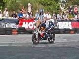Biker Shows Amazing Stunts & One Wheeling - Polish Stunts Cup