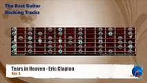 Tears in Heaven - Eric Clapton Guitar Backing Track with scale map _ Chart