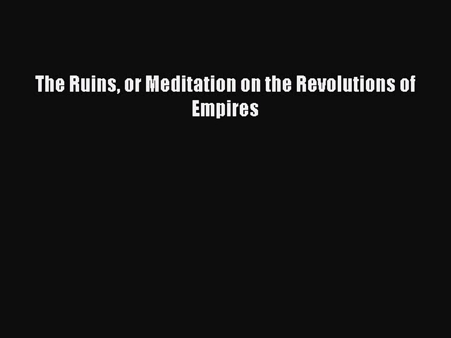 Churches, Revolutions And Empires:1789-1914