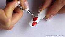 Mittens Nail Art Design Gel nail polish. Winter manicure. Christmas Nails