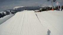 SFR Freestyle Tour : caméra embarquée de David Bonneville sur le slopestyle de La Clusaz
