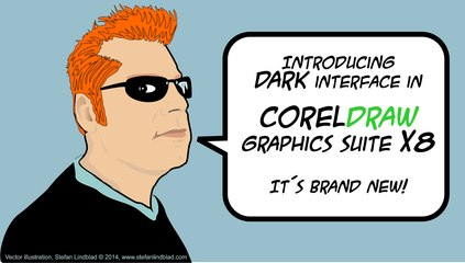 Introducing DARK interface in CorelDRAW Graphics Suite X8 - it´s Brand new!