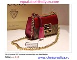 Gucci Padlock GG Supreme Shoulder Bag with Red Leather  for sale