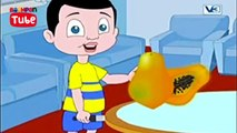 Papaya Fruit Songs | English Fruit Rhyme | Cartoon For Kids | Bachpan Tube