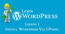 In this tutorial you will learn how to install WordPress on your CPanel hosting account. On custom hosting platforms, li