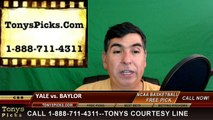 College Basketball Free Pick Baylor Bears vs. Yale Bulldogs Prediction Odds Preview 3-17-2016