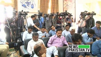 Taj Haider Press Conference at Karachi Press Club