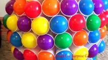 CRAZY CUPS and Balls Giant Egg 50 Surprise Eggs Toys For Kids Colour Balls Video For Children Part I