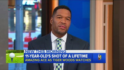 Tiger Woods Watches 11 year old Shoot HOLE IN ONE