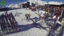 Une terrible chute pour cette skieuse - gag ski