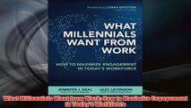 PDF Download  What Millennials Want from Work How to Maximize Engagement in Todays Workforce Read Online