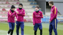 FCB Training Session:  Recovery session with Villarreal in mind