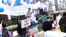 野党は共闘!!SEALDs牛田・奥田による『野党は共闘コール』 SEALDs 新宿アルタ前 街頭宣伝
