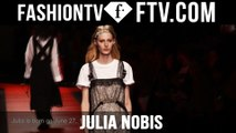 Model Talks Paris S/S 16 - Julia Nobis | FTV.com
