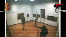 CCTV: Armed thieves steal paintings off a museum wall