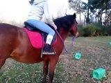 Lise monte Kida - Lise rides Kida