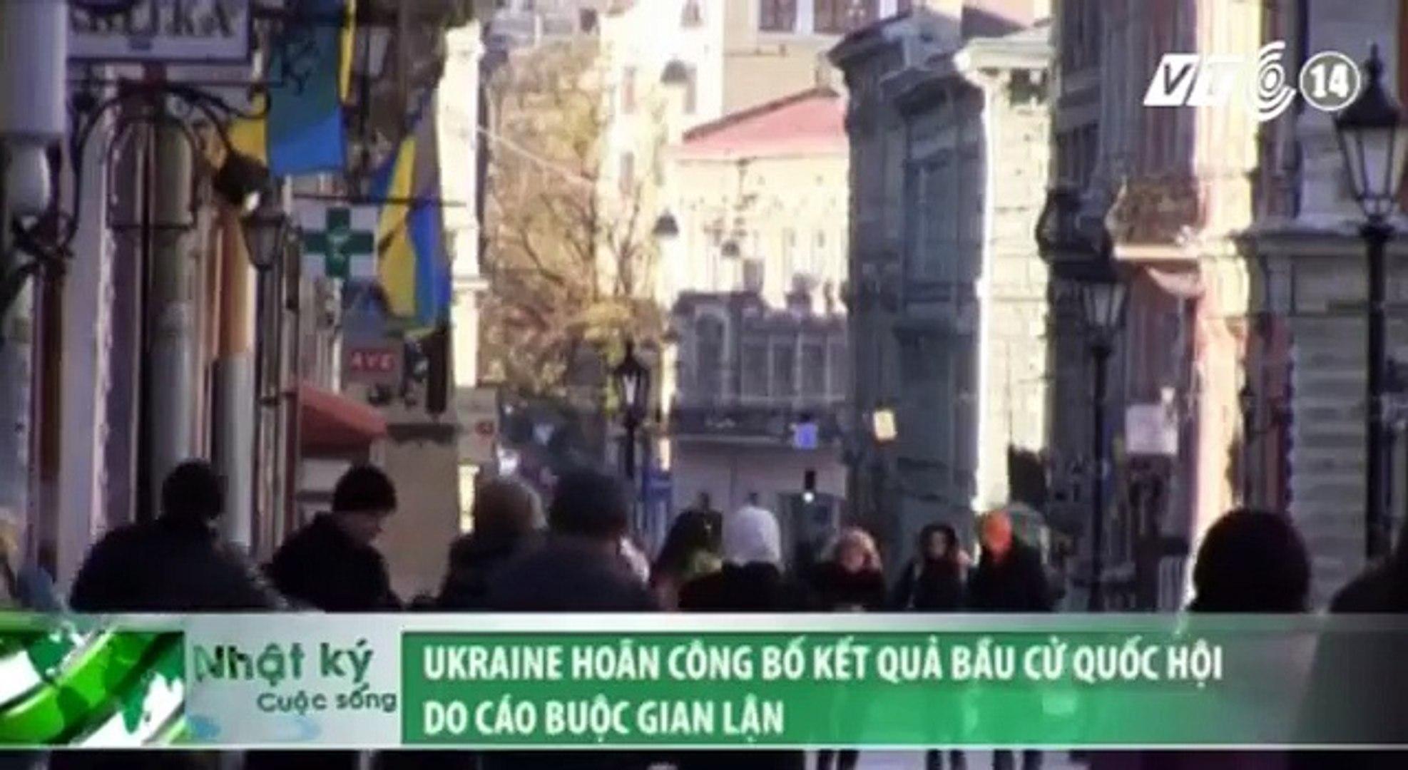 VTC14_Ukraine hoãn công bố kết quả bầu cử Quốc hội do cáo buộc gian lận