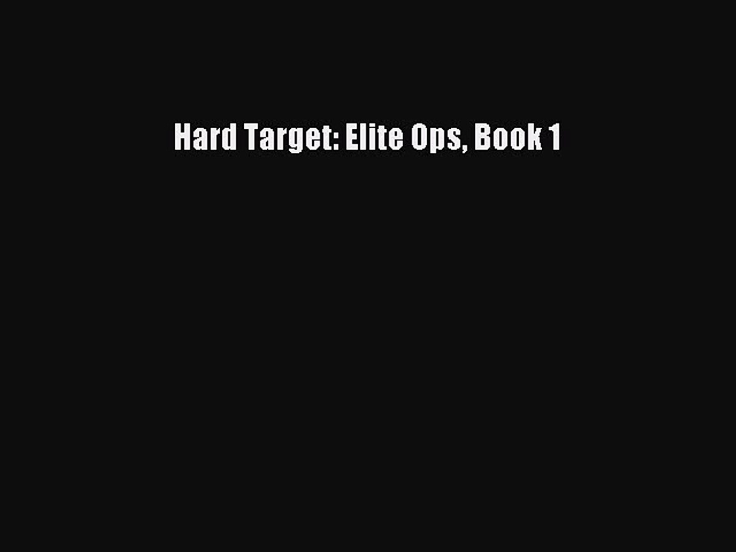Personal Target - An Elite Ops Novel