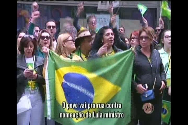 Povo vai às ruas protestar contra o ministro Lula