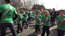 St Patrick's P.S. Samba Band. St Patrick's Day Parade, Magheralin 17.03.16