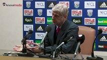 Arsene Wenger, West Bromwich Albion - Arsenal Maçını Değerlendiriyor
