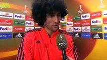 UEL - Man Utd 1-1 Liverpool (AGG 1-3) Marouane Fellaini Post-Match Interview