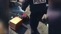 Un homme détruit sa voiture au milieu du boulevard Barbès