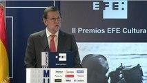 Rajoy abre las puertas de La Casa de las Noticias de la Agencia Efe