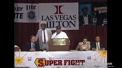 Mike Tyson vs Smith Press Conference  Historical Boxing Matches