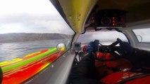Accident d'un bateau de course à pleine vitesse