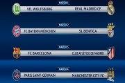 Barcelona-Atlético y Wolfsburgo-Real Madrid en cuartos