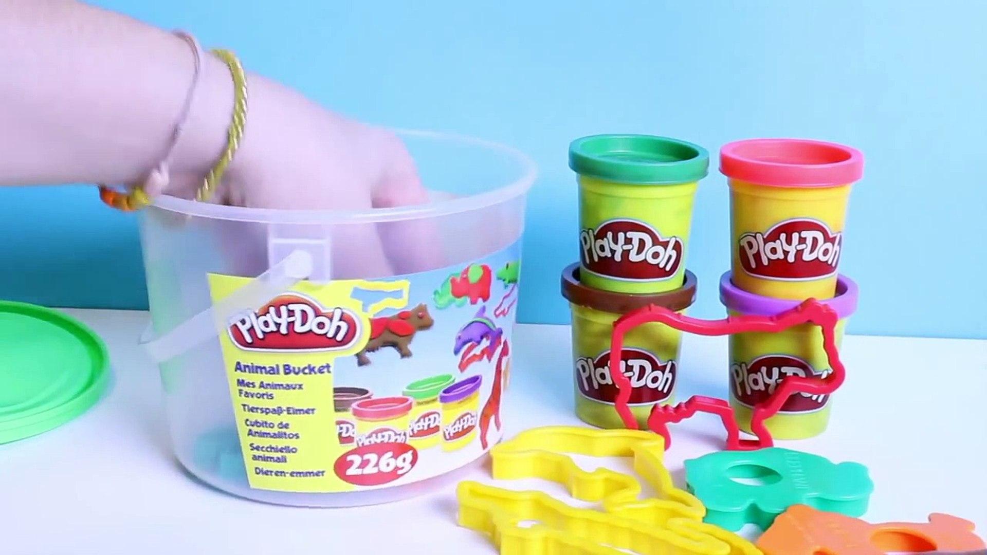 Play Doh Animals Activities Bucket Play-Doh Animals Shapes & Molds Play Farm Jungle Animals
