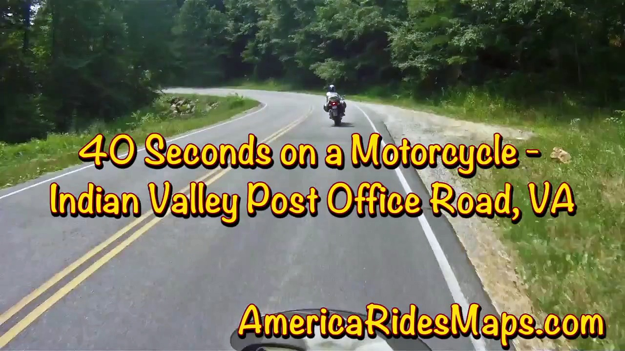 Motorcycle on Indian Valley Post Office Road