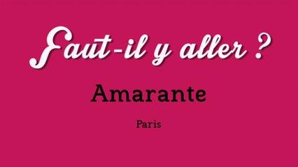 """""""Faut-il y aller ?"""" - Amarante"""