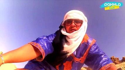 Hamdi  a réussi dans le défi Patinage sur le sable