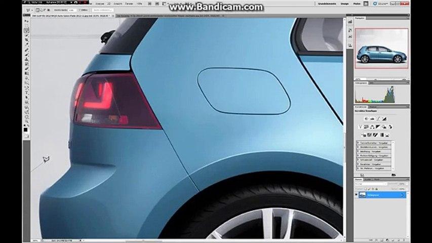 Photoshop Tutorial [HD] car tuning Auto tunen Tiefer + Felgen