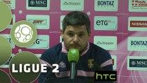 Conférence de presse Evian TG FC - FC Sochaux-Montbéliard (0-0) : Romain REVELLI (EVIAN) - Albert CARTIER (FCSM) - 2015/2016