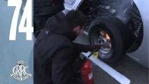Andrew Jordan's Ford GT BURNS at Goodwood