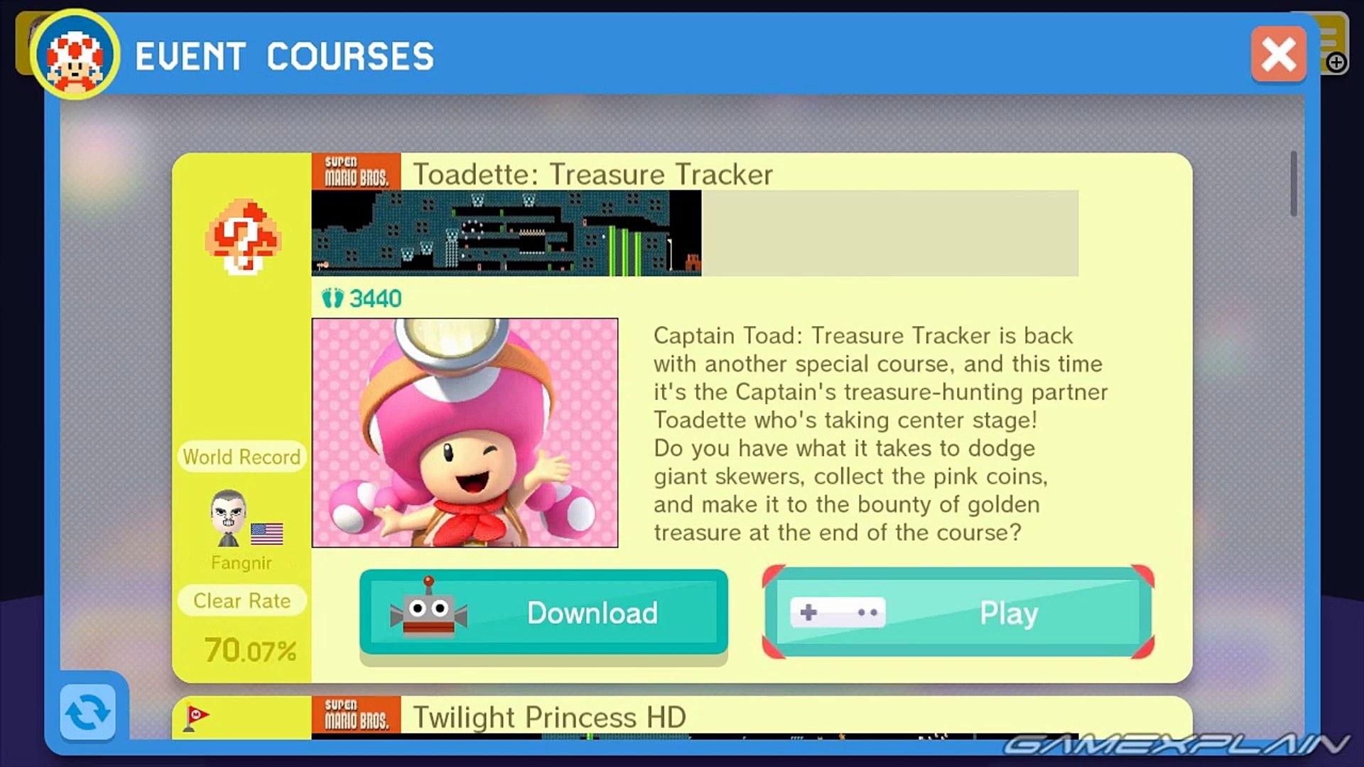Super Mario Maker - Toadette: Treasure Tracker Course Playthrough & Costume  Tour