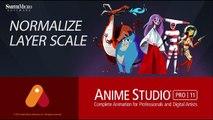 Anime Studio Pro 11 Normalize Layer Scale Tutorial