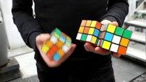 Resuelve tres cubos de Rubik en 20 segundos mientras hace malabares