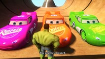 Spiderman vs Hulk Kids Songs ♪ The Green Grass Grows all Around ♪ Cars Lightning McQueen Orange and Pink